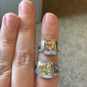 DY Inspired CZ Rings. One Size 9 and one Size 7.